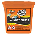 Dead Down Wind Laundry Bombs | 28 Count | Unscented | Laundry Detergent, Odor Eliminator + Stain Remover for Hunting Accessories, Gear and Clothes, Safe for Sensitive Skin