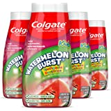 Colgate Anticavity Kids 2-In-1 Toothpaste and Mouthwash, With Fluoride for ages 2+, Watermelon Burst Flavor, 100 Ml - 4 Pack,