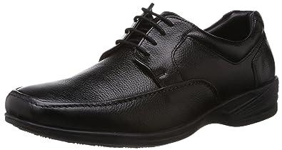 Hush Puppies Mens Jungle Ii Black Leather Formal Shoes 8 Ukindia