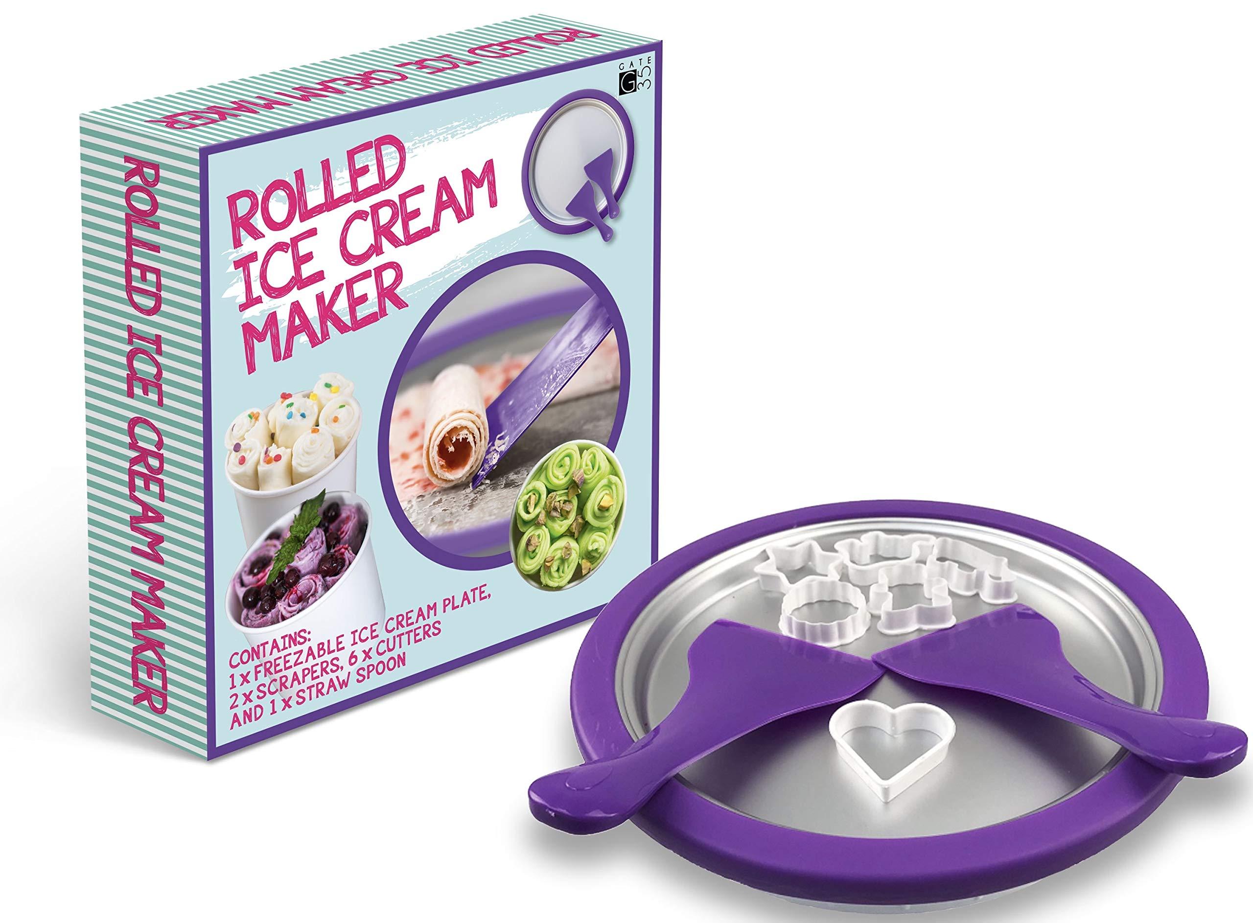 Ice Cream Roll Maker - Make Amazing Ice Cream Desserts at Home in an Instant - Food Grade DIY Rolled Ice Cream, Frozen Yogurt Grill