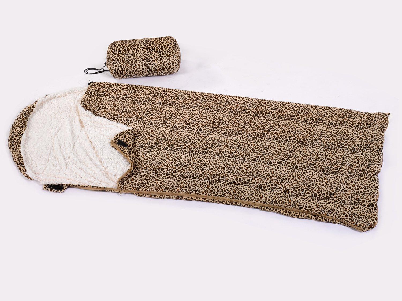 Sherpa Leopard Print Cream Single Faux Fleece Cosy Plush Camping Sleeping Bag Amazoncouk Kitchen Home