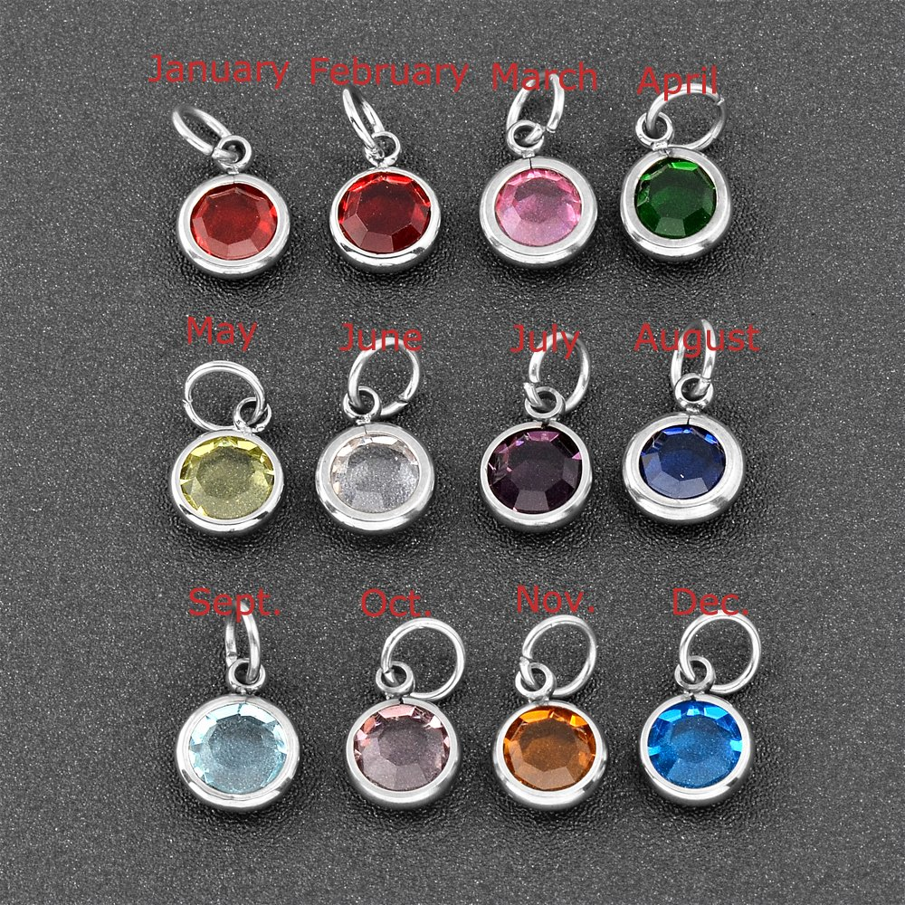 constantlife 12 Birthstone and 26 Initials Custom Fish Hook Cremation Pendant Cremation Jewelry for Ashes