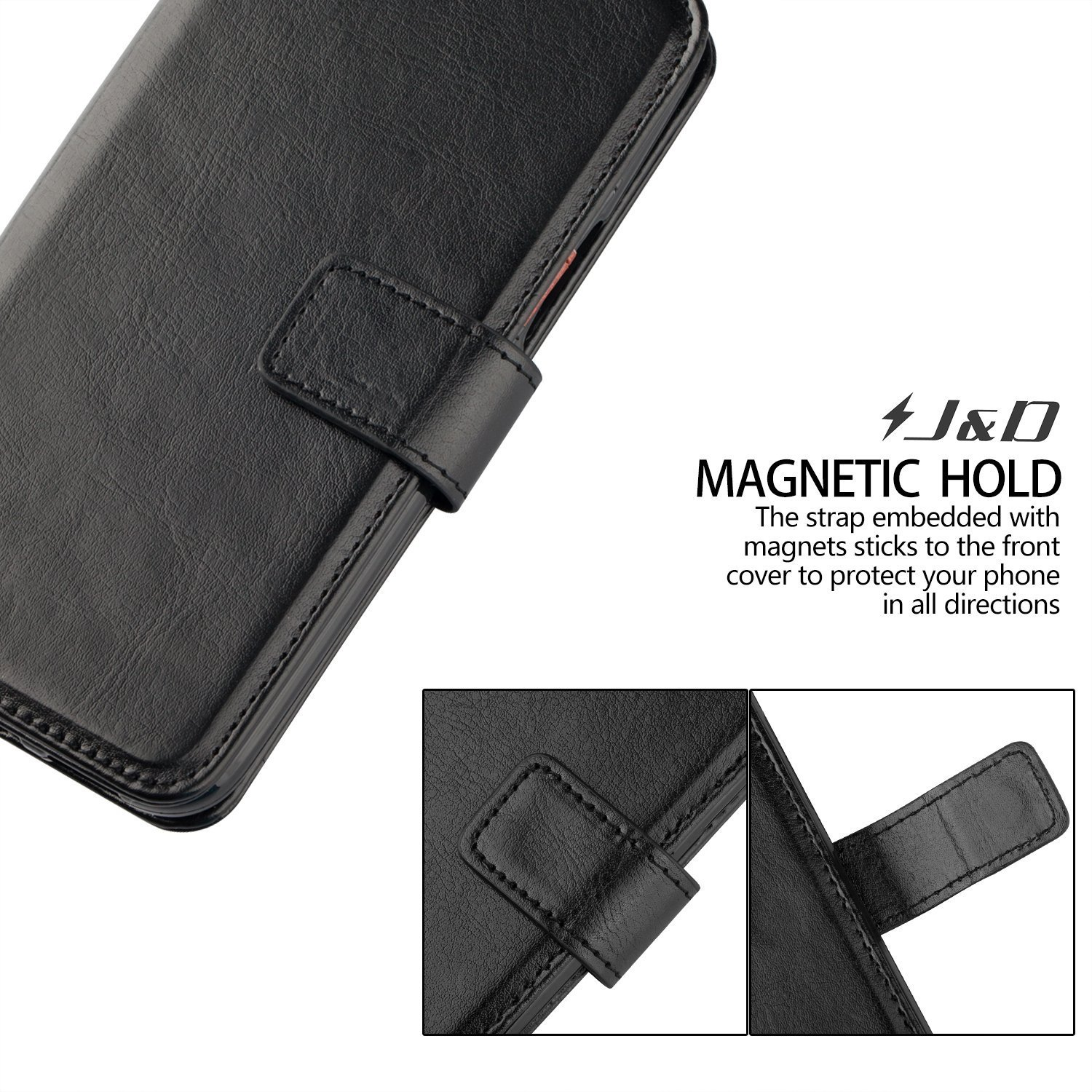 Slim Fit NOT for Galaxy A8 Plus 2018 // A8+ 2018 J/&D Case Compatible for Galaxy A8 2018 Case, Heavy Duty Shockproof Flip Cover Wallet Case for Samsung Galaxy A8 2018 Wallet Case - Wallet Stand