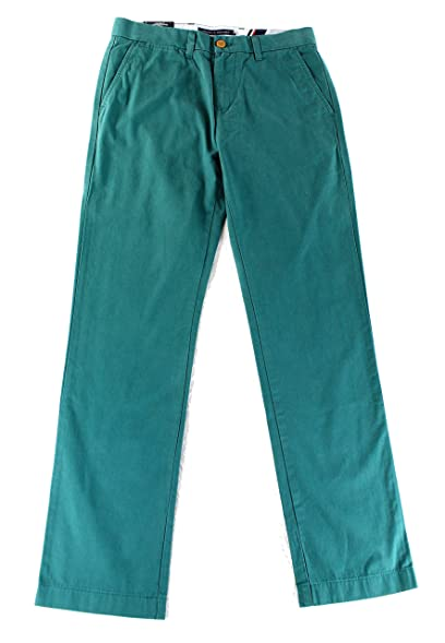 Tommy Hilfiger Green Mens 34x34 Custom Fit Khakis Chinos Pants Blue 34