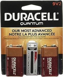 Duracell 665211 9-Volt Alkaline Battery, 2 Pack