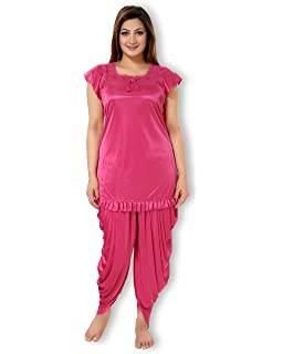 77ed364ff4 AV2 Women Satin Top   Pyjama Nightdress Set
