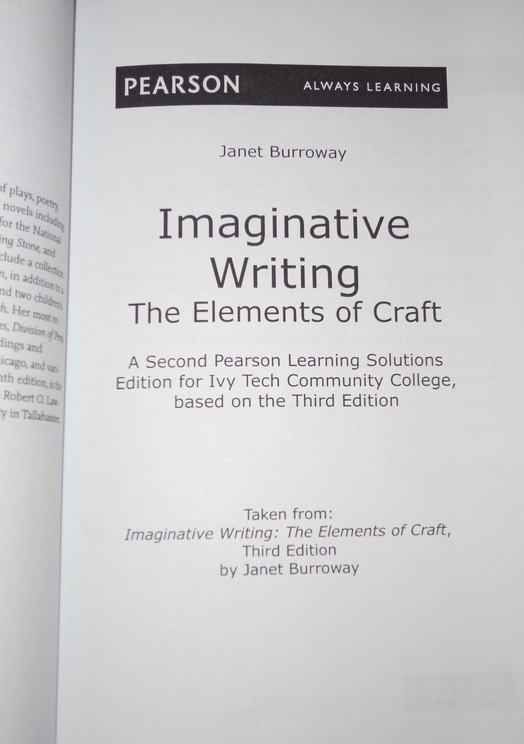 Imaginative Writing: The Elements of Craft, Ivy Tech Community ...