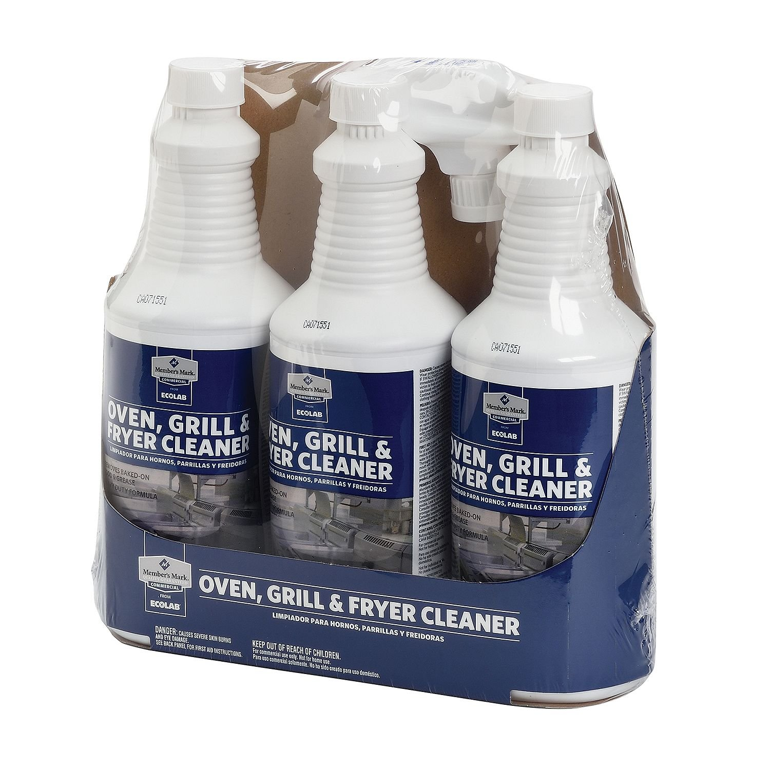 Member's Mark Oven, Grill & Fryer Cleaner - 3 bottles 32 oz each - Formerly known as Proforce by ProForce