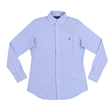 Image Unavailable. Image not available for. Color  RALPH LAUREN Womens Long  Sleeve Knit Oxford Shirt ... 146b2c60a