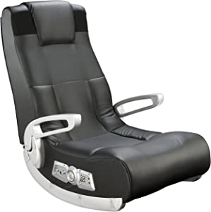 Ace Bayou X Rocker II SE 2.1 Black Leather Floor Video Gaming Chair for Adult