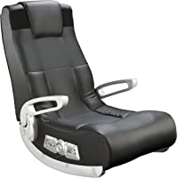 $66 » Ace Bayou X Rocker II SE 2.1 Black Leather Floor Video Gaming Chair for Adult, Teen, and Kid…