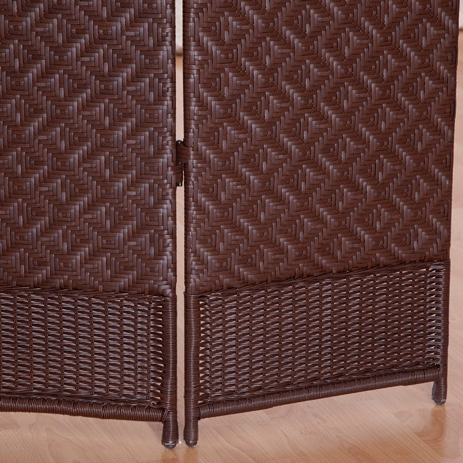 Amazon.com: Outdoor/Indoor Woven Resin 4 Panel Room Divider: Kitchen & Dining