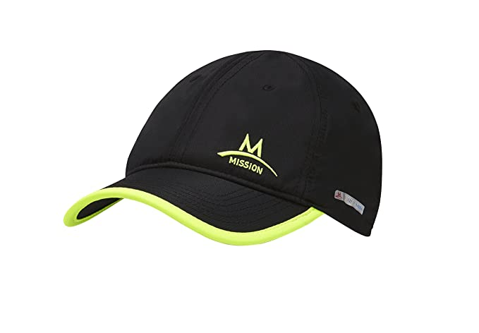 1ef3eface59ad7 Mission Standard Enduracool Cooling Performance Hat, Black/High Vis Green,  One Size