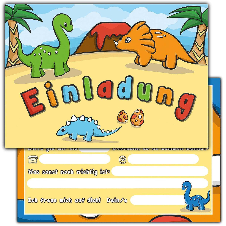 10 Einladungskarten zum Kindergeburtstag \