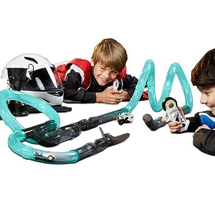Amazon com: FAO Schwarz 31-Piece Glow-in-The-Dark Turbo Tube Racers