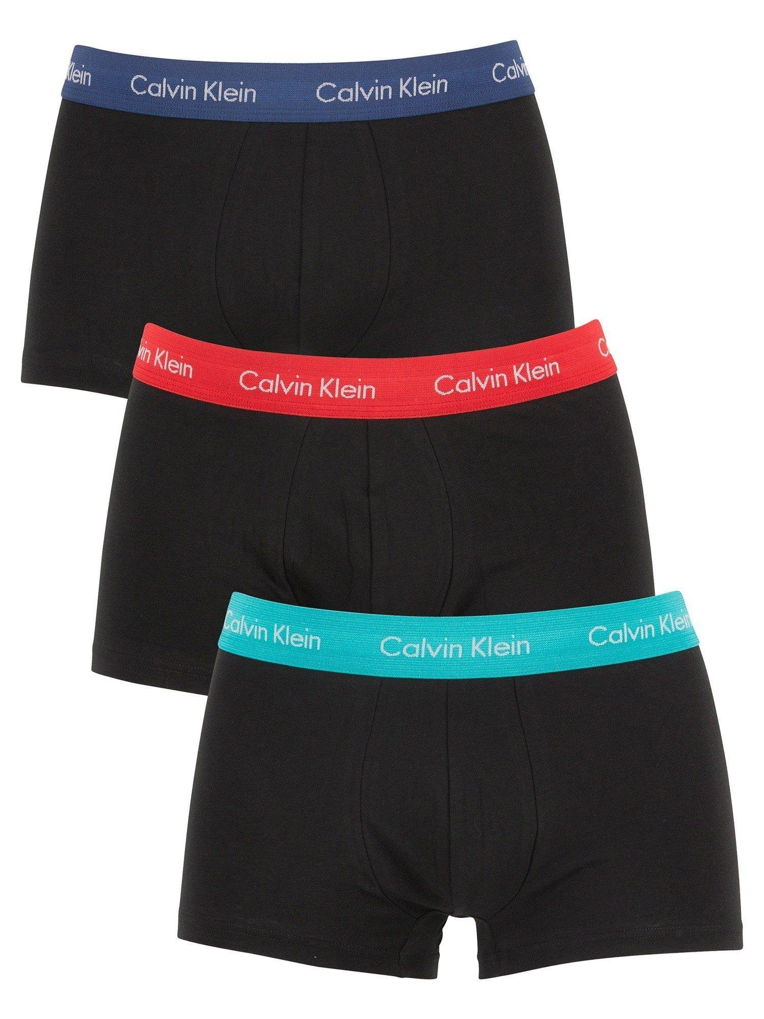 Calvin Klein Men's 3 Pack Trunks, Black, Large