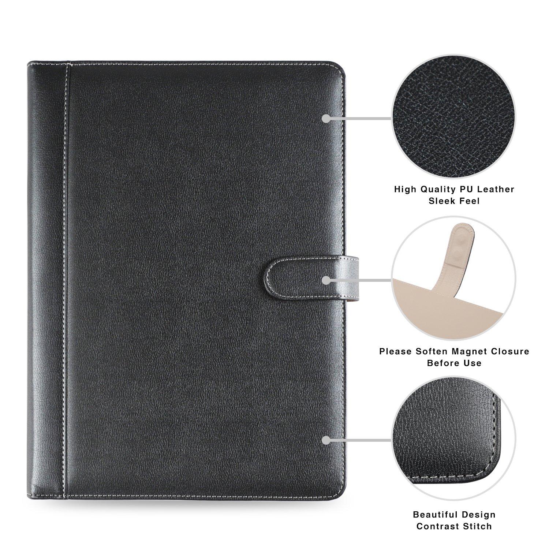5b7faf4ce26 AHGXG Padfolio  Resume Portfolio Folder - Interview  Legal Document  Organizer    Business Card Holder - with ...