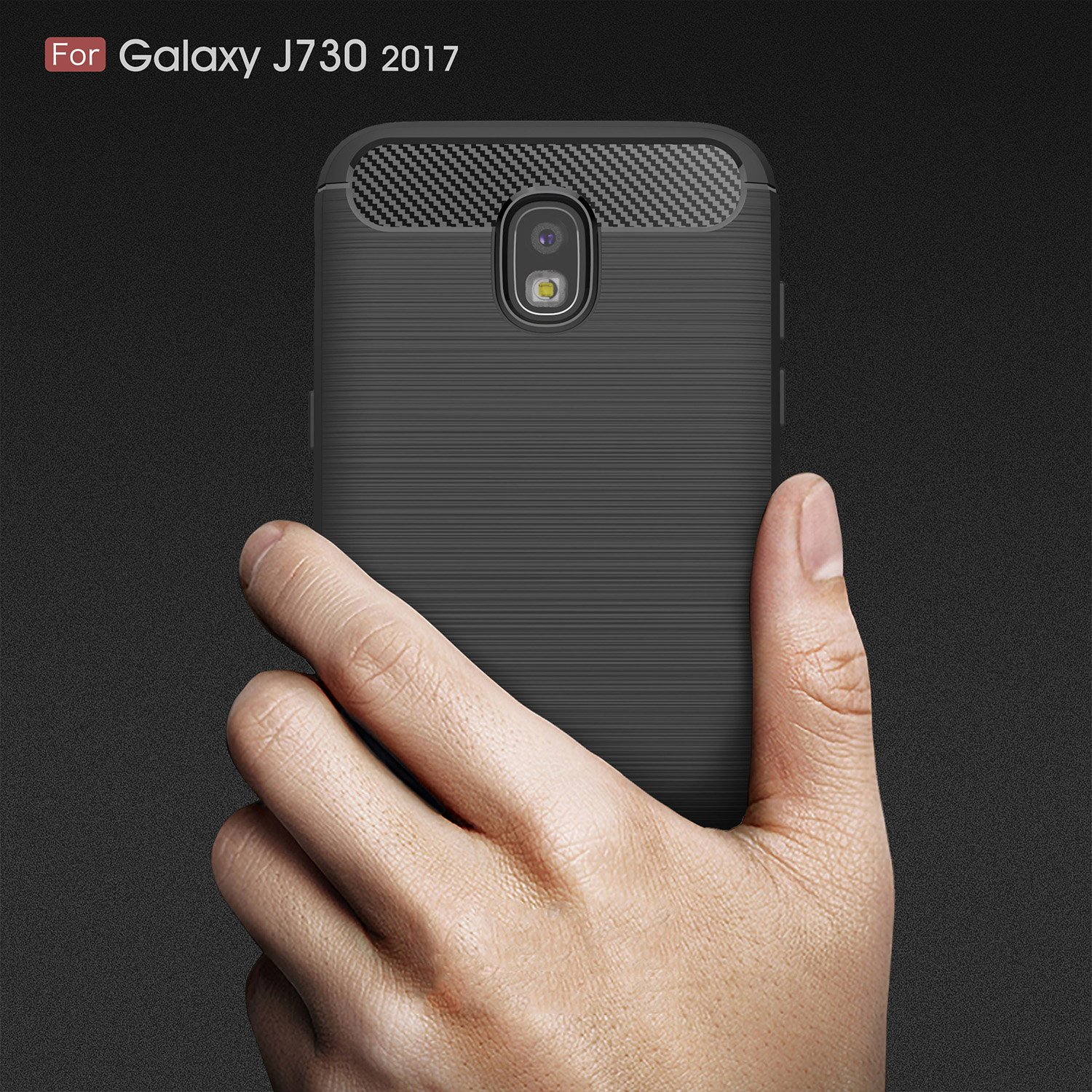 Amazon.com: For Galaxy J730 J7Pro (2017) Case, Ultra-thin Brushed Carbon Fiber Slim Armor Soft TPU Phone Back Full Cover Case For Samsung Galaxy J730 (2017) ...