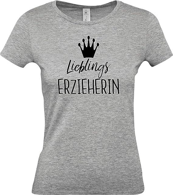 Frauen Damen Langarm Shirt Erzieherin Pädagogin Kita Geschenk Kindergarten Beruf