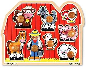 Melissa & Doug Large Farm Jumbo Knob