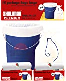 Shalimar Premium Garbage Bags (Large) Size 60 cm x 81 cm 4 Rolls (60 Bags) (White Color)