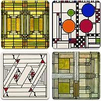 CoasterStone Frank Lloyd Wright Art Glass Absorbent Stone Coasters