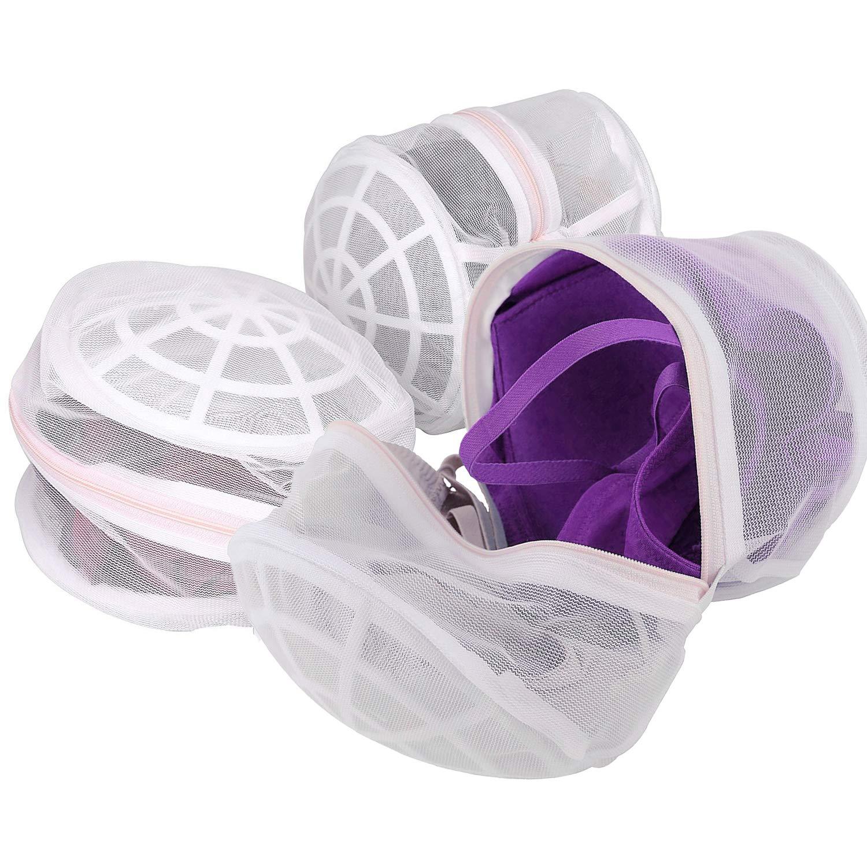 Maxhugoo ブラワッシャープロテクターバッグ Lサイズ 3枚パック デリケートな洗濯バッグ ホワイト プレミアムジッパー付き 細かいメッシュランドリーバッグ インティメイトランジェリー デリケートな靴下用 B07H2DV92V