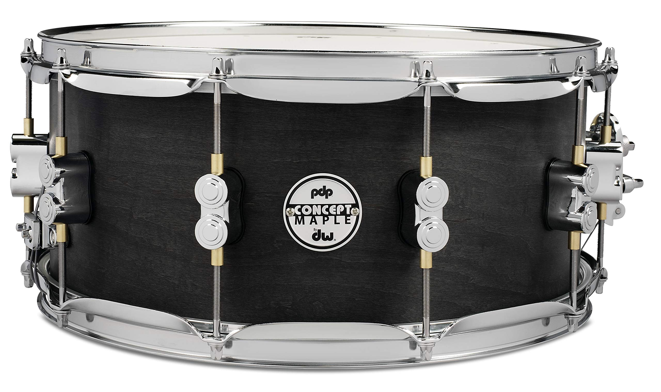 PDP By DW Black Wax Maple Snare Drum 6.5x14 by Pacific