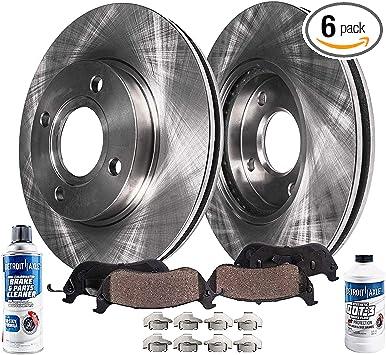 Front Brake Disc Rotor /& Ceramic Brake Pad Kit Set for Suzuki Chevy New
