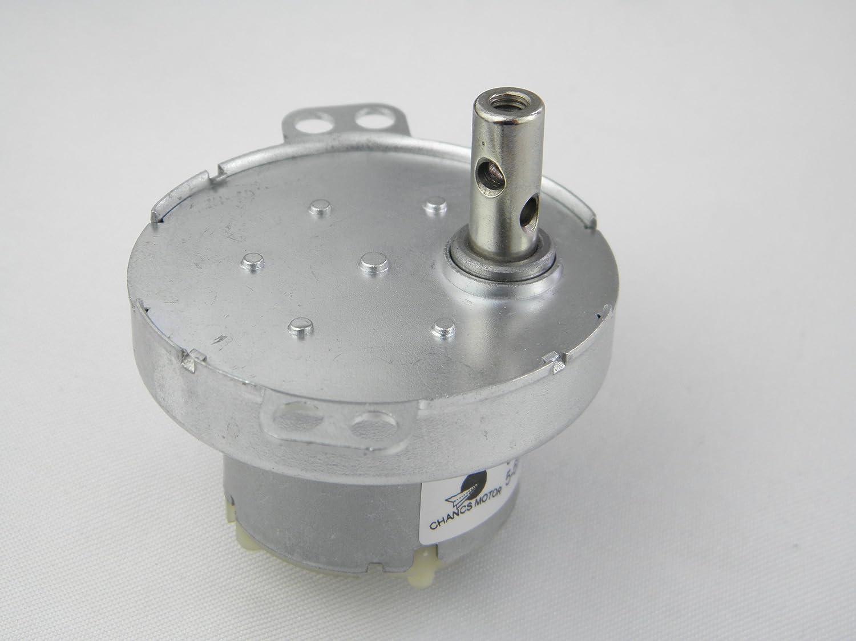 CCW 2W Poder Peque/ño HANCS Sincr/ónico Motor Micro engranado JS-50 DC 12V 5RPM Baja Velocidad CW
