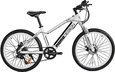 Momo Design K2 Bicicletta Elettrica Mountain Bike 26 Velocità 25kmh Autonomia 32km Nerobianco