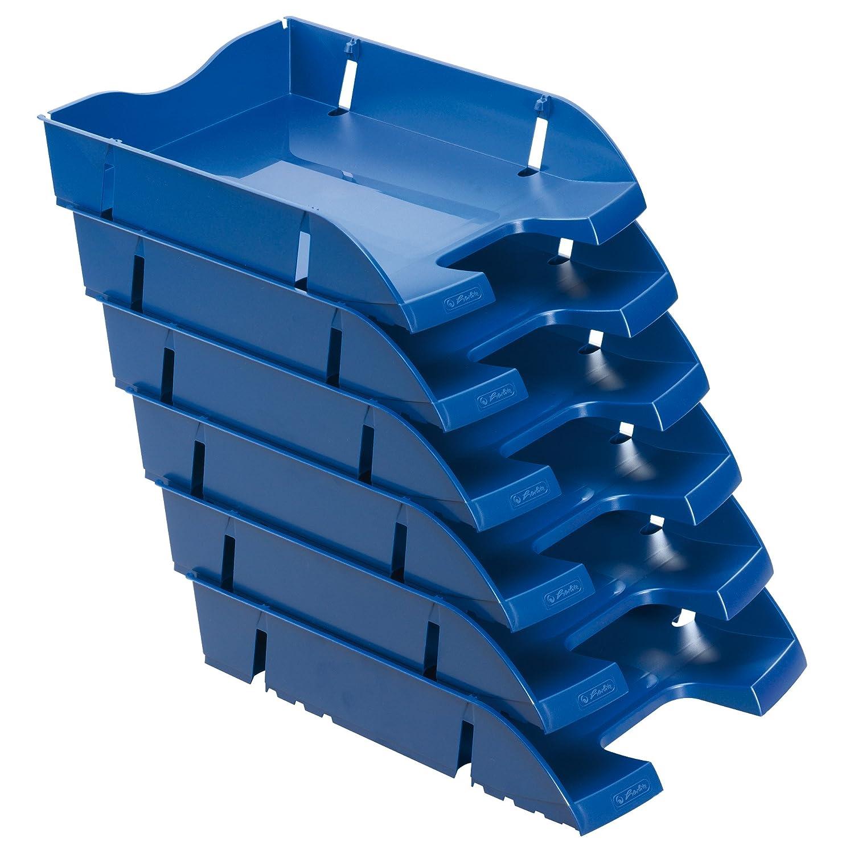 6 St/ück im Pack grau transluzent Herlitz 11247228 Ablagekorb A4-C4 space PET-Recylat