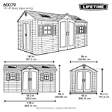 LIFETIME 60079 Outdoor Storage Dual Entry