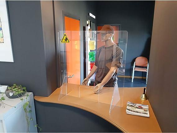 Jalema Es 7999801 - Mampara de Protección para Mostrador - 750x800mm Calidad Superior, Acrílico Metacrilato 4mm con Ventanilla 250x150mm - Gran protección - Comercios, Farmacias, Transparente: Amazon.es: Oficina y papelería