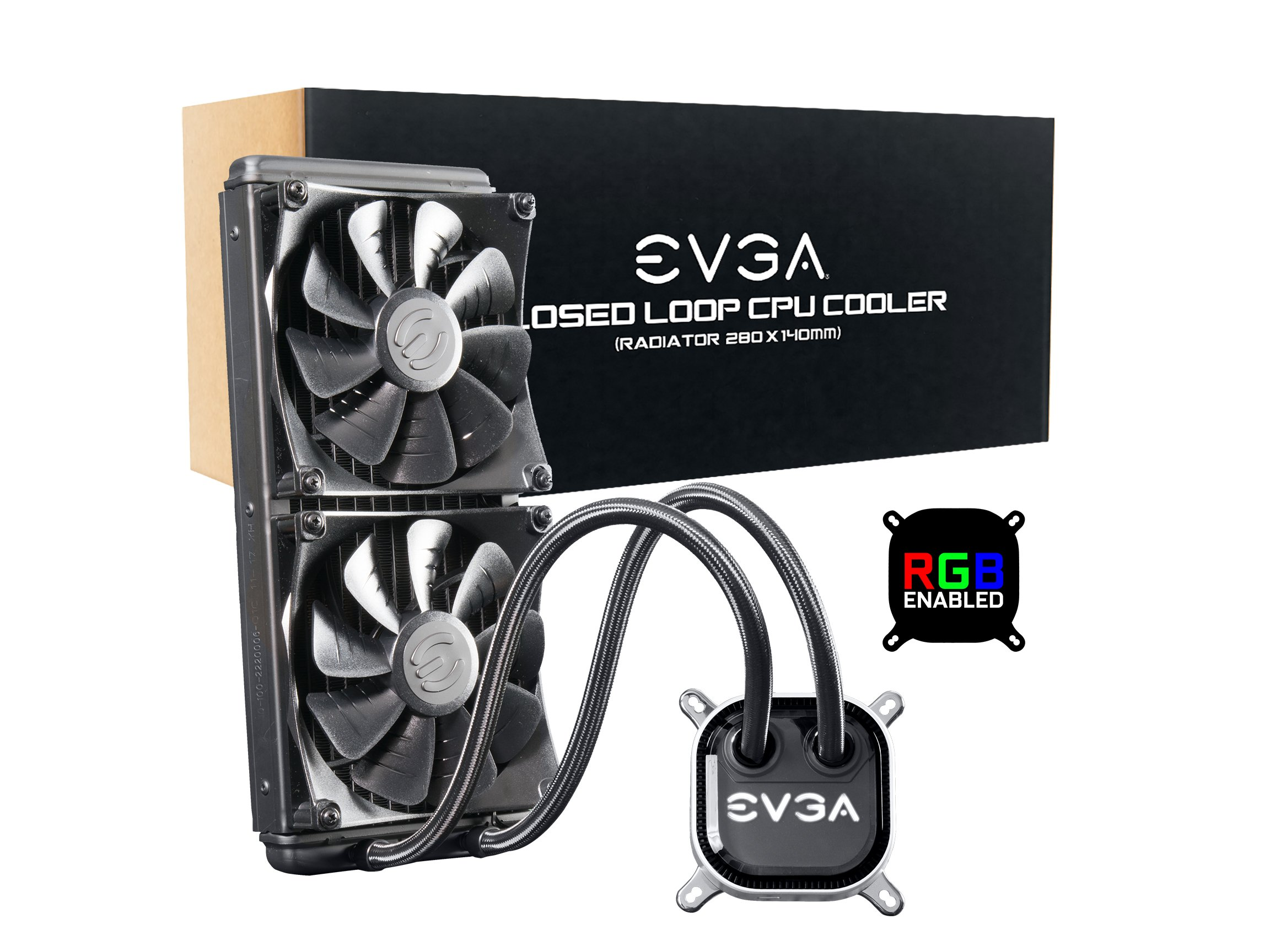 EVGA CLC 280 Liquid / Water CPU Cooler, RGB LED Cooling 400-HY-CL28-V1 by EVGA
