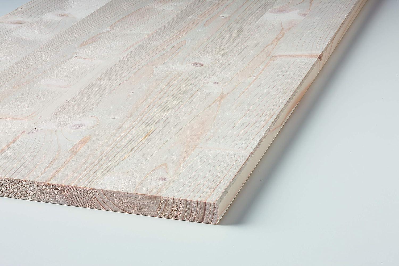Klenk Holz 003752 Leimholzplatte 28x600x800mm Einschicht Massivholzplatte Fichte