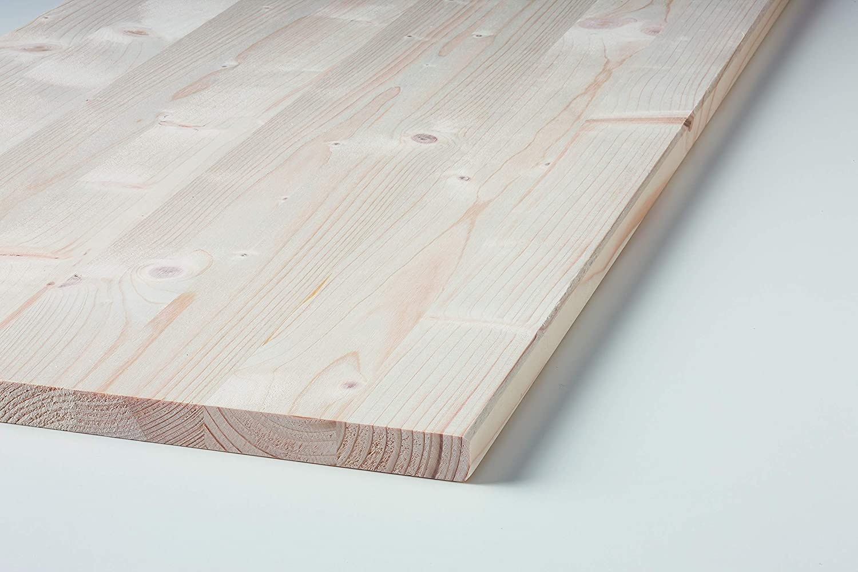 Klenk Holz 2751 Leimholzplatte 18x400x2.500mm Einschicht Massivholzplatte Fichte,