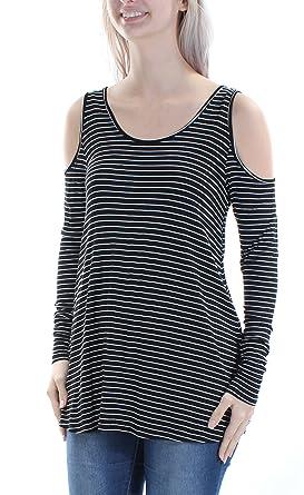 4e09562066ba5b Ultra Flirt Juniors  Cold-Shoulder Top at Amazon Women s Clothing store