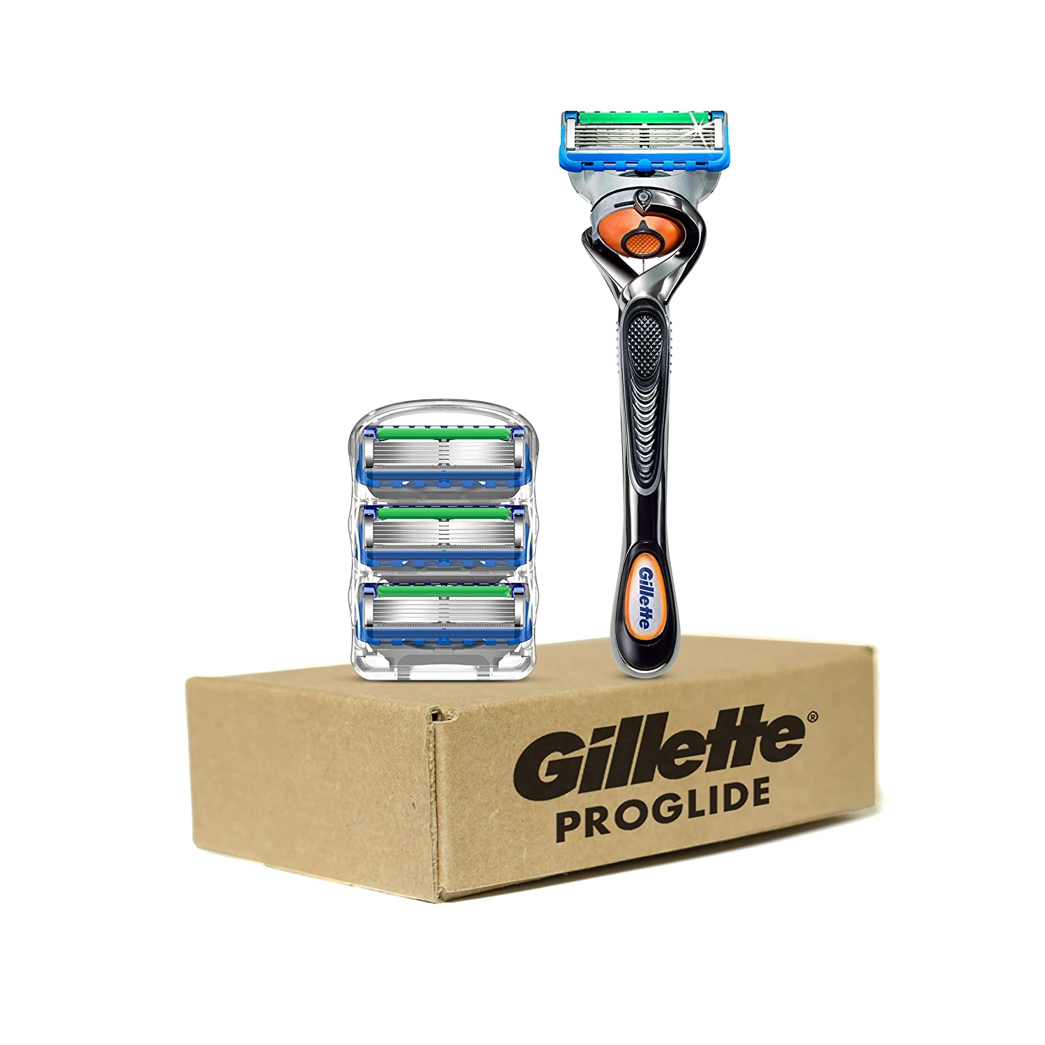 Gillette ProGlide Men's Razor Handle + 4 Blade Refills