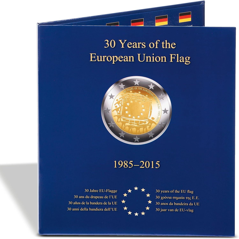 Álb. PRESSO para 23 monedas conmemorativas europ. de 2€ 30º aniv ...