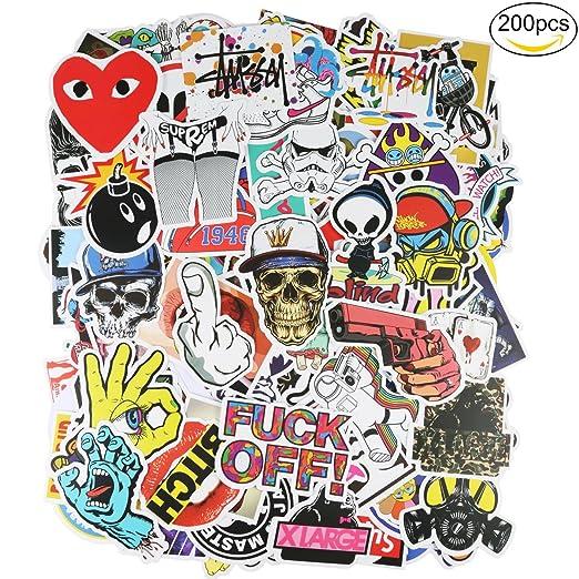 12 opinioni per ivencase Adesivi Stickers, confezione da 200 Stili Diversi Graffiti Decals per