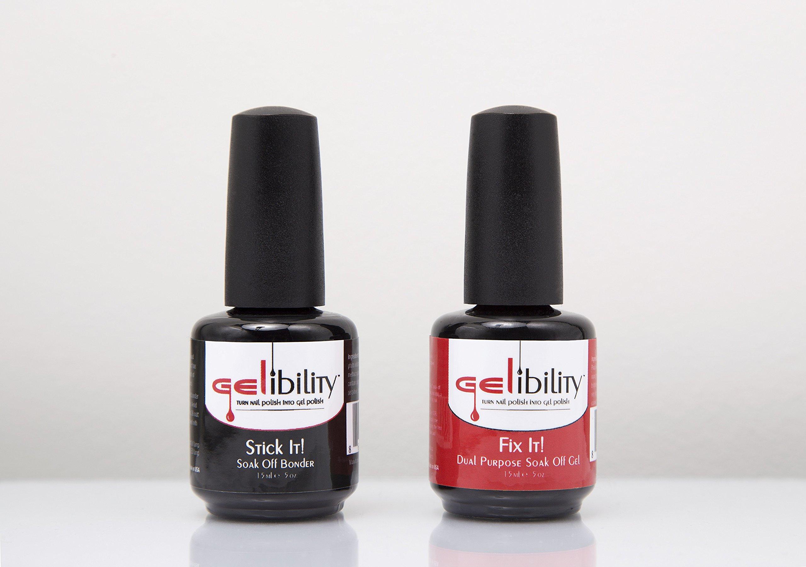Amazon.com : Gelibility Stick It/Fix It set- Turn nail polish into ...