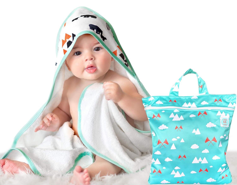Pippi Unisex Baby Organic Hooded Towel /Überwurf f/ür Schwimmbekleidung
