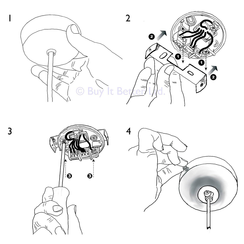 ElekTek Light Fitting Lamp Kit With Strap Bracket With Hook Antique ...