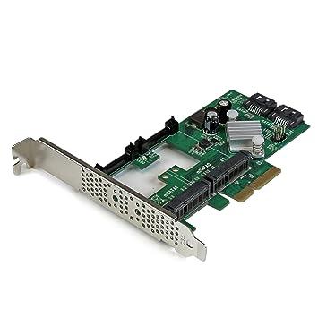 StarTech.com 2 Port PCI Express 2.0 SATA III 6Gbps RAID Controller Card w/ 2 mSATA Slots & HyperDuo SSD Tiering - PCIe SATA 3 Controller ...