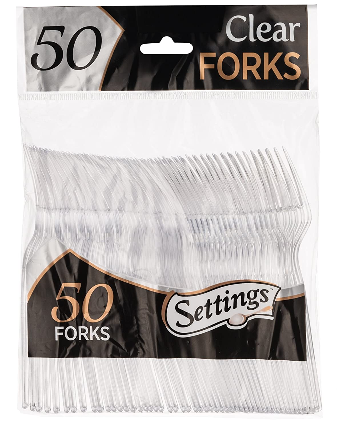 Settings Clear Plastic Cutlery Disposable Tea Spoons 50 Party Spoons Per Package