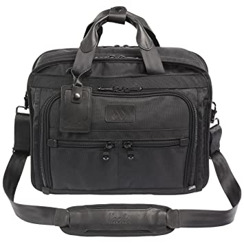 56b8bdc14484 MACHIR Business Briefcase Laptop Bag Shoulder Bag with Handle and Shoulder  Strap (Midnight Black)