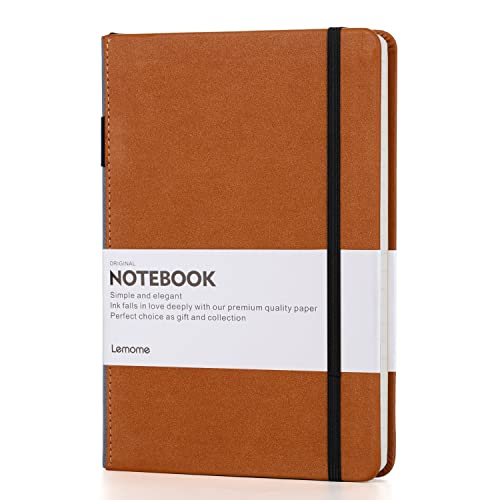 Dotted Bullet Journal/Notebook - A5 Hardcover Dot Grid Notebook with Pen Loop - Premium Thick Paper 125g/m² - Page Dividers Gifts - Lemome