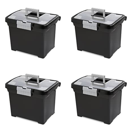 Amazon.com: Sterilite 18719004 File Box, Negro Portátil con ...