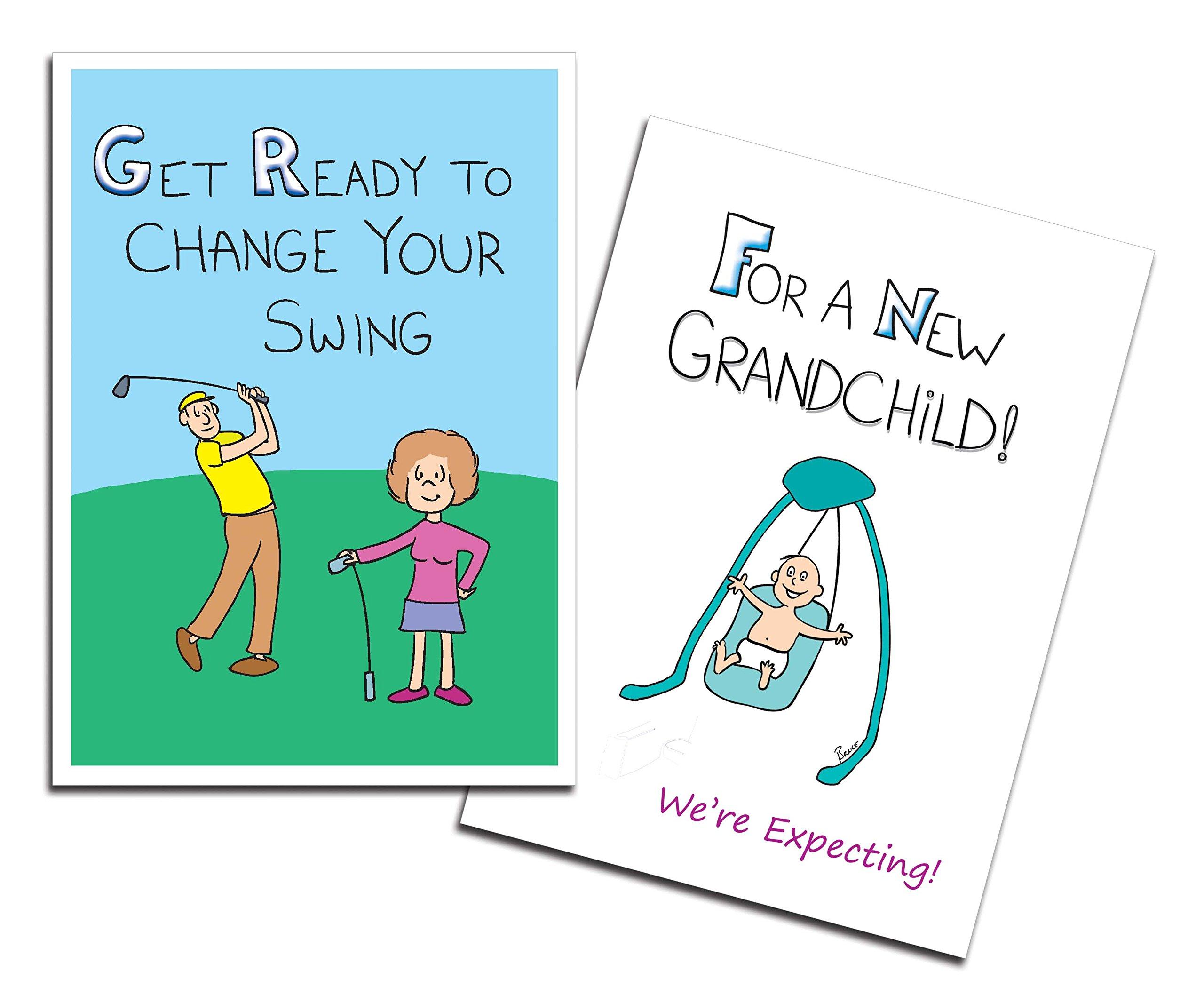 Dad's Castle Pregnancy Announcement - Grandparents Card, Changing Swing